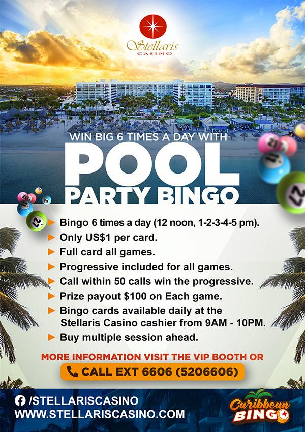 flyer pool bingo Marriott casino aruba